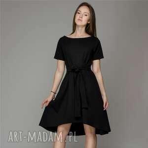 hand-made sukienki trapeze black | sukienka z dzianiny