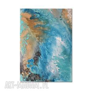 Acqua di Follia 10, abstrakcja, nowoczesny obraz ręcznie malowany, obraz, abstrakcja