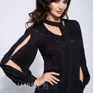 Czarna bluzka damska z koronki, koronkowa, elegancka, glamour