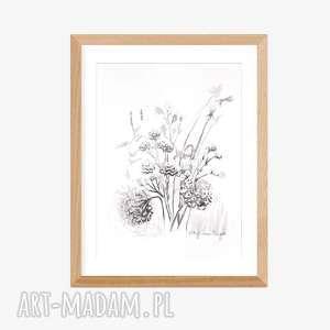 obraz biało czarny a4 ręcznie wykonany, elegancki minimalizm, do salonu