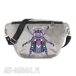 nerka xxl chrząszcz - ,nerka,saszetka,torebka,chrząszcz,insekt,haft,