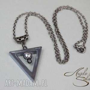 angelo naszyjnik trianglo wisiorek hematyt - naszyjnik, wisior, hematyt, trójkąt