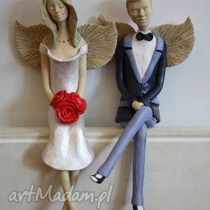 Anioły siedzące para 2, anioł, anioły,