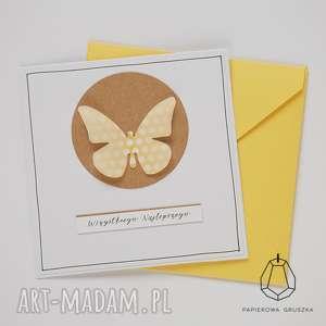 handmade kartki kartka z motylkiem