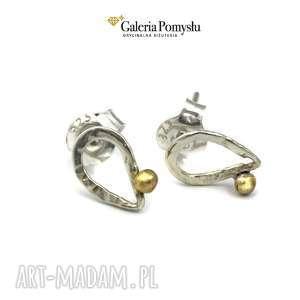 Srebrne łezki, sztyfty, srebro, 925, minimalizm