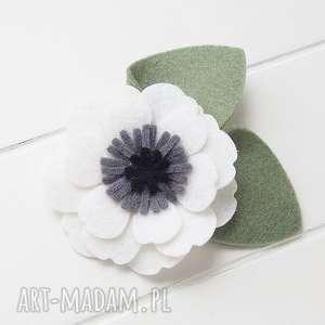 ozdoby do włosów spinka kwiat anemon, filc, kwiaty, lato, dziewczka