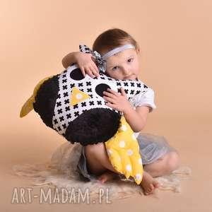 przytulanka dziecięca sowa ze skrzydłami, poduszka sowa