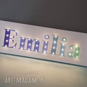 pokoik dziecka neon obraz led z imieniem ombre personalizowany napis lampa