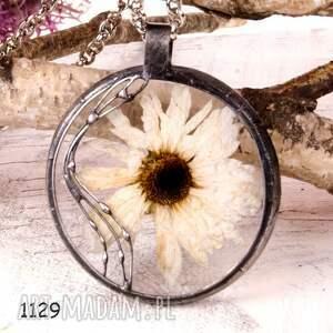 naszyjnik z suszonymi kwiatami terrarium 5,5cm tiffany 1129