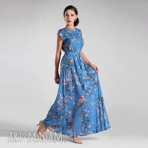 sukienki sukienka nerea maxi natalie, sukienka, maxi, kwiaty, lato, długa