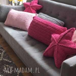 Poduszka ręcznie dziergana 60 x 30 cm poduszki knitting factory