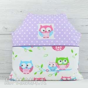 poduszka dekoracyjna dla dziecka 40x40cm domek sowy - poszewka, przytulanka, prezent