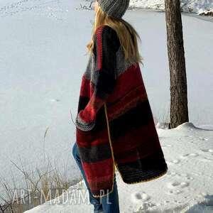 ręcznie robione swetry multikolor sweter boho
