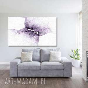 obraz xxl twarze 5 -120x70cm design na płótnie loft pocałunek fiolet, obraz