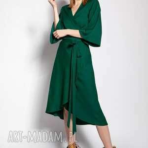 Sukienka kopertowa, suk185 zielony sukienki lanti urban fashion