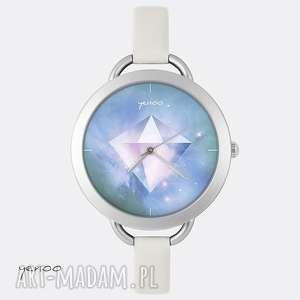 zegarki zegarek, bransoletka - diament jasno szary, skórzany