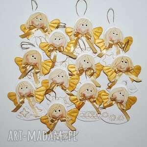 na okazję aniołki - prezent dla gości, aniołki, masa solna, prezent, chrzest