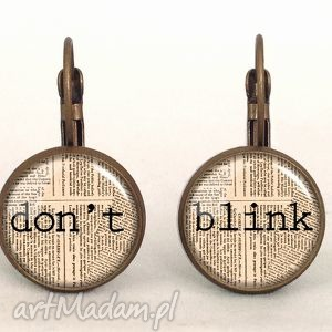 egginegg don t blink - małe kolczyki wiszące, doctor, dont, who