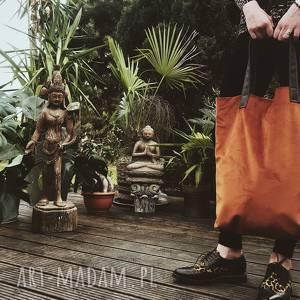 na ramię torba mr m velvet terakota/uszy skóra naturalna, torba, shopper, zakupu