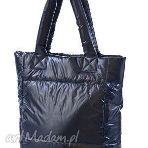torebka damska pikowana,puchowa 8970 kolor granatowy, torba, torebka, puchowa