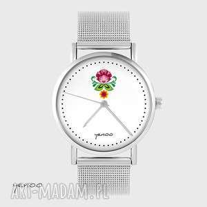 zegarki zegarek, bransoletka - folkowy kwiat metalowy, bransoleta