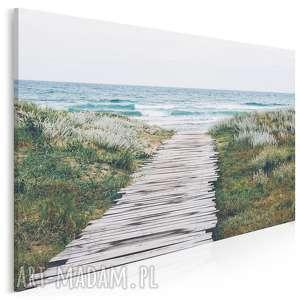 fotoobraz na płótnie - morze plaża most 120x80 cm 904401, morze, plaża