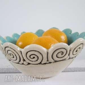 turkusowa miseczka na wszystko, miska, ceramiczna, parapetówka, artystyczna