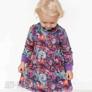Sukienka dresowa orient fiolet mamaiti dresowa, dla dziecka