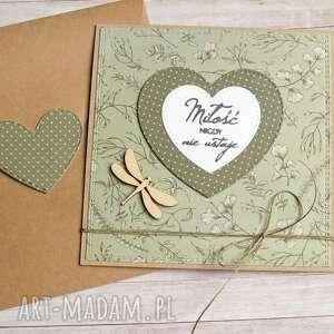kartki miłość kartka miłosna lub ślubna zieleń, ślub, ślubna, kwiaty polne