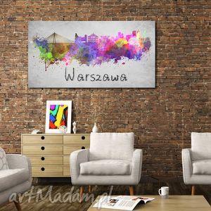 obraz duży miasto WARSZAWA 2 -120x70cm na płótnie, obraz, miasto, warszawa