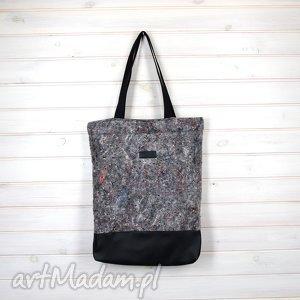 pojemna torba filc techniczny szara kolorowa, torba, weekend, filc, mocna