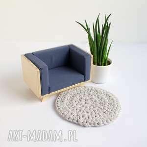 nowoczesny fotel dla lalek wykonany ze sklejki, lalek, mebelki