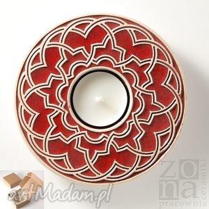 ceramika lampion geometryczny pudełko prezentowe, lampion, świecznik, ceramiczny