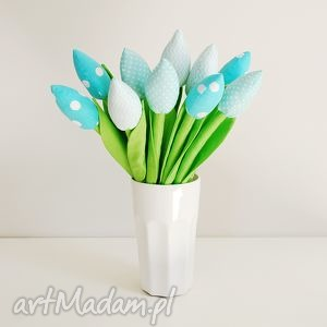 Bukiet bawełnianych tulipanów, tulipany, kwiaty, tulipany-z-materiału, szyte