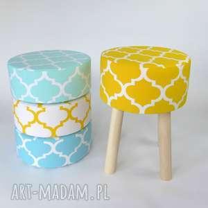 Prezent Podnóżek Fjerne M żółta koniczyna, dom, stołek, taboret, prezent, żółty