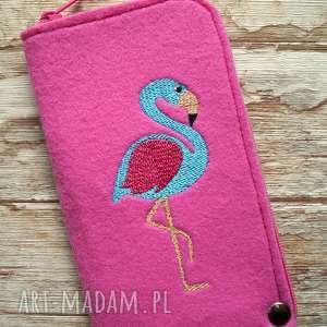 happyart filcowe etui na telefon - flaming, smartfon, flamingi, prezent, pokrowiec