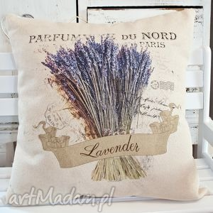 poduszka dekoracyjna z motywem lawendy ,, lawenda iv - lawenda, lawendula