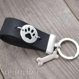Brelok do kluczy dla miłośników psów, brelok, smycz, miłośnik, zwierząt, skóra