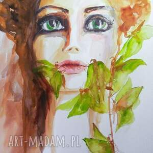 zieleń jej oczu obraz na w 100 bawełnianym płótnie 110x80cm artystki plastyka adriany
