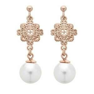 sotho kolczyki z różowego złota z perłami swarovski® crystal