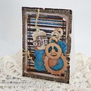 Dla taty - kartka eco scrapbooking kartki vairatka handmade