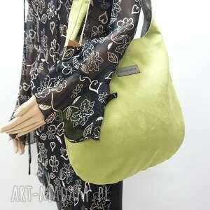 hand-made na ramię worek hobo size xl kolor zielony