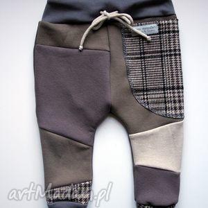 ręczne wykonanie upominek świąteczny patch pants - eco dresik dziecięcy / kratka