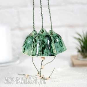 dekoracje ceramiczny dzwonek - las, ozdoby ceramiczne