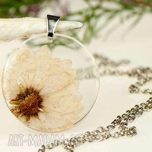Prezent z1306 Naszyjnik z prawdziwym kwiatem-5cm , naszyjnik-z-kwiatem