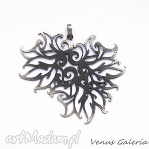płomyki - duży wisior, srebro, wisiorek, ażurowy, venus, biżuteria, oksyda