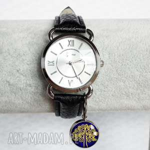DRZEWO SZCZEŚCIA :: zegarek damski na rękę z zawieszką drzewem, drzewko, życia