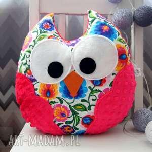 Duża sowa poduszka dla dziecka przytulanka maskotka minky prezent, sowa,
