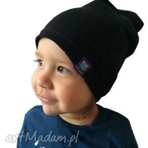 dla dziecka czarna czapka, 2 rozmiary, czapa, dresówka, dziecko, niemowlę