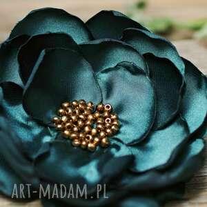 elegancka broszka przypinka kwiatek, duża do sukienki, marynarki